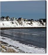Winter At The Coast Canvas Print