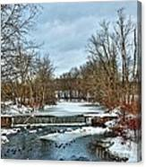 Winter At The Mattabeset River Canvas Print