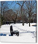 Winter At The Park Canvas Print