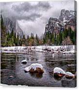 Winter At Valley View Canvas Print