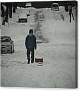 Winter Athlete Canvas Print