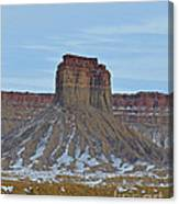 Winter Banded Butte Canvas Print