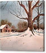 Winter Barn # 5 Canvas Print