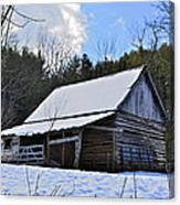 Winter Barn Canvas Print