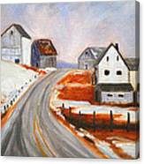 Winter Barns Canvas Print