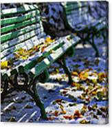 Winter Bench 3 Canvas Print