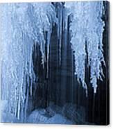Winter Blues - Frozen Waterfall Detail Canvas Print