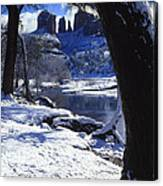 Winter Cathedral Rock Canvas Print
