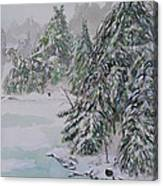 Winter Chill St Lawrence River Canvas Print