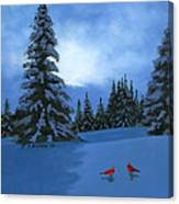 Winter Christmas Card 2012 Canvas Print