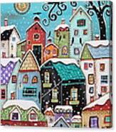 Winter City Canvas Print