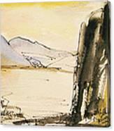 Winter Cliff Canvas Print