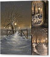Winter Collage Canvas Print