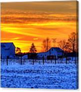 Winter Country Sunset Canvas Print