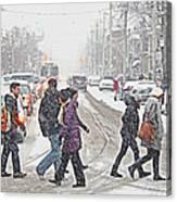 Winter Crossing Canvas Print
