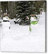 Winter Dance Of The Snow People Canvas Print