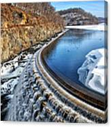 Croton Dam At Winter Canvas Print