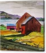 Winter Delaware Farm Canvas Print