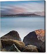 Winter Evening On Humboldt Bay Canvas Print