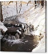 Winter Falls On Big Stone Lake  Canvas Print