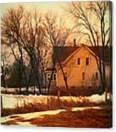 Winter Farhouse Canvas Print