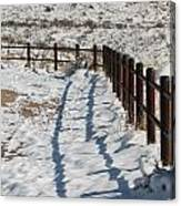 Winter Fence Canvas Print