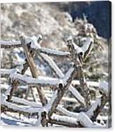 Winter Fence Line  Canvas Print