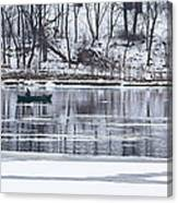 Winter Fishing - Wisconsin River Canvas Print
