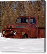 Winter Ford Truck 3 Canvas Print