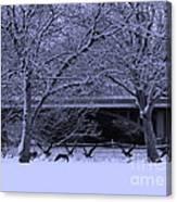 Winter Geese Retreat Canvas Print