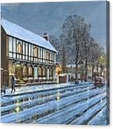 Winter Glow Parish Room Tickhill Yorkshire Canvas Print