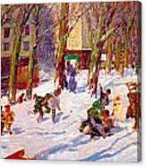 Winter High Bridge Park Canvas Print