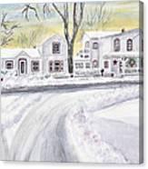 Winter Holidays In Dixboro Mi Canvas Print
