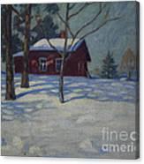 Winter House Canvas Print