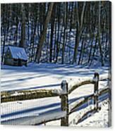 Winter Hut Canvas Print