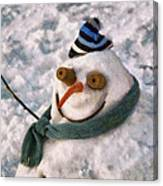 Winter - I'm Ready For My Closeup Canvas Print