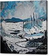 Winter In Ancient Ruins Canvas Print