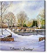 winter in ashford Derbyshire Canvas Print