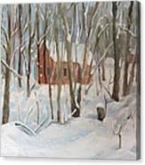 Winter In Campton New Hampshire Canvas Print