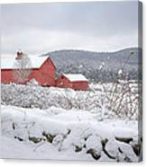 Winter In Connecticut Canvas Print