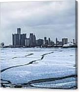Winter In Detroit  Canvas Print