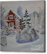 Winter In Finland Canvas Print