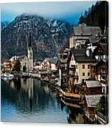 Winter In Hallstatt Canvas Print