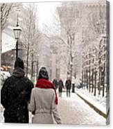 Winter In London Canvas Print