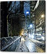 Winter In New York City Canvas Print