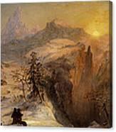 Winter In Switzerland Canvas Print