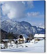 winter in the Bavarian alps 1 Canvas Print