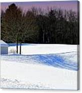 Winter In The Berkshires Canvas Print