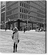 Winter In The City Canvas Print