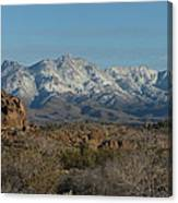 Winter In The Haulapai's Canvas Print